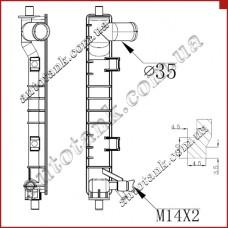 Бачок радіатора Mazda 626, MX6
