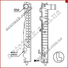 Бачок радіатора охлаждения AUDI A 4 / S 4 (B5)