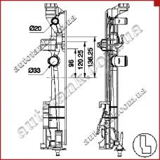Бачок радіатора MERCEDES A-CLASS W 176, B-CLASS W 246, CLA-CLASS C 117, GLA-CLASS X 156