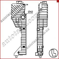 Бачок радіатора Mercedes-Benz Sprinter W 901-905 (95-)