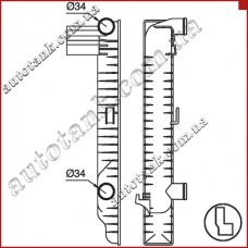 Бачок радіатора охлаждения MERCEDES SL-CLASS R 129