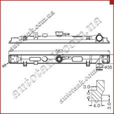 Бачок радіатора Mazda 323 BONGO, E-Series