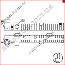 Бачок радиатора Mercedes-Benz 207 D (77-)