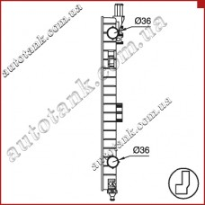 Бачок радіатора MERCEDES ML-CLASS W163