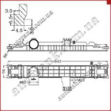 Бачок радіатора DAF 65CF, 75CF, CF65, CF75, 85CF, CF85